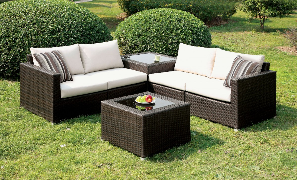 Alago Patio Sectional Set By Furniture Of America Web Home Furnishings